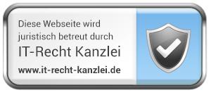 Diese Website wird juristisch betreut von der IT-Recht Kanzlei München